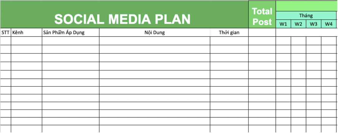 mẫu xây dựng kế hoạch truyền thông